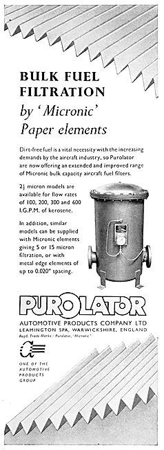 Automotive Products. Purolator Filters