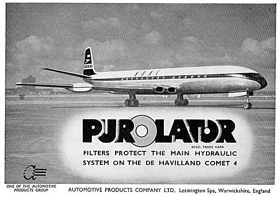Automotive Products - Purolator Filters For The Comet