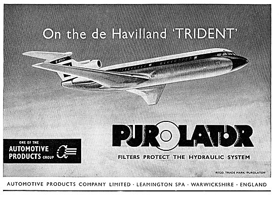Automotive Products - Purolator Filters For The DH Trident