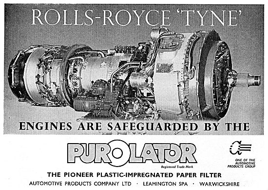 Automotive Products - Purolator Filters For The Rolls-Royce Tyne