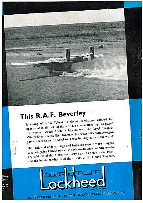 The RAF's Blackburn Beverelys Depend On Lockheed Hydraulics