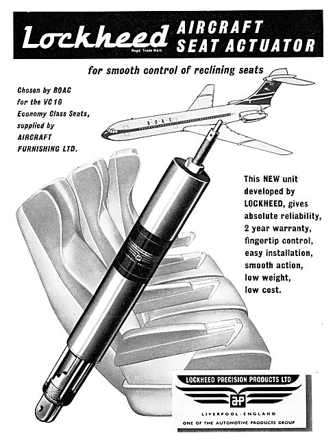 Automotive Products- Lockheed Aircraft Reclining Seat Actuators