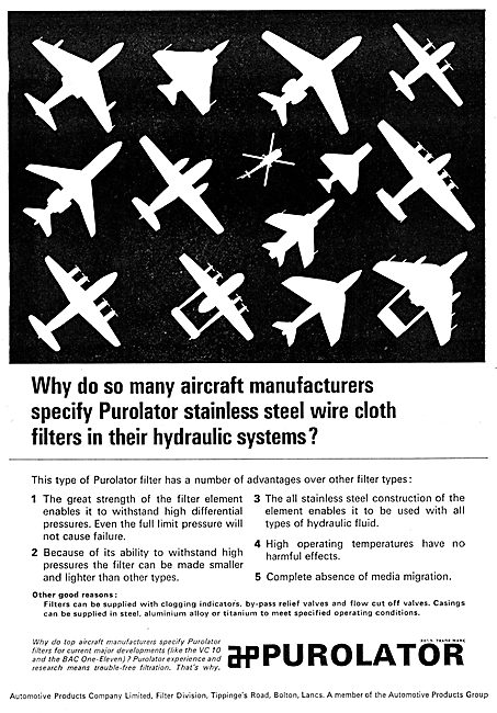 Automotive Products- PUROLATOR Stainless Steel Wire Cloth Filters