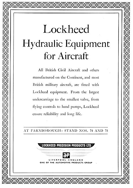 Automotive Products- Lockheed Hydraulic & Landing Gear Components