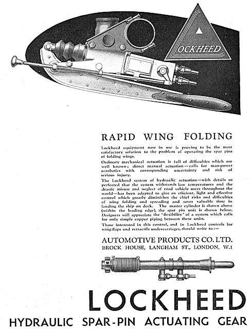Lockheed Rapid Wing Folding Mechanism