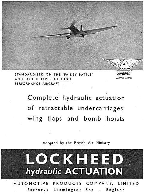 Lockheed Hydraulic Retractable Undercarriages - Fairey Battle