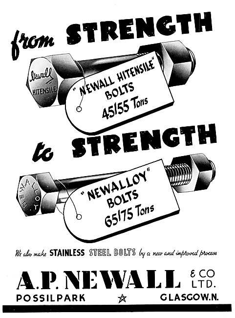 A.P.Newall AGS Parts - High Tensile Nuts & Bolts
