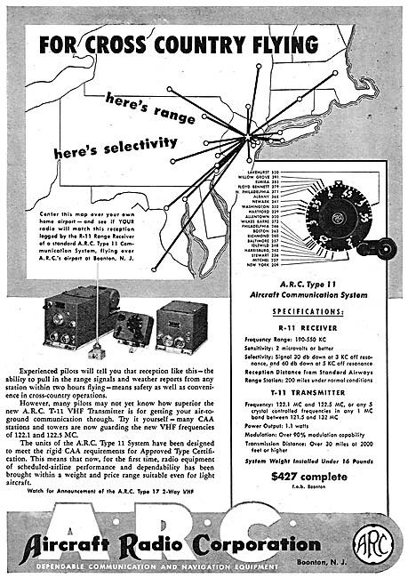 ARC Aircraft Radio Corporation - ARC Type 11 Comms