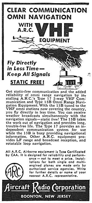ARC Aircraft Radio Corporation ARC VHF NAV/COM