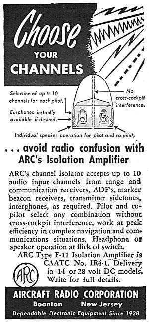ARC Aircraft Radio Corporation. ARC Type F-11 Isolation Amplifier