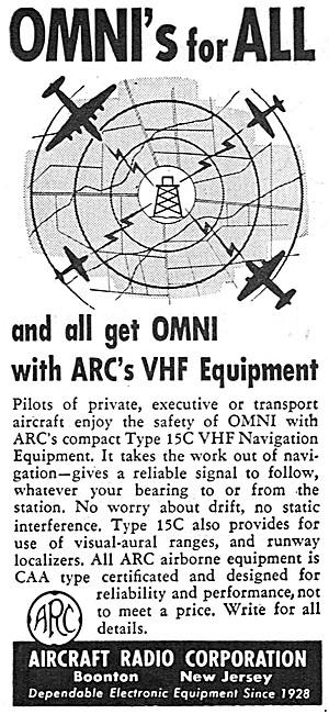 ARC Aircraft Radio Corporation. ARC 15C VHF Nav