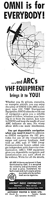 ARC Aircraft Radio Corporation - ARC Type 15C VOR