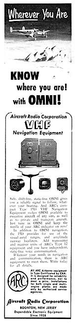 ARC Aircraft Radio Corporation. ARC Type 15D VHF Navigation