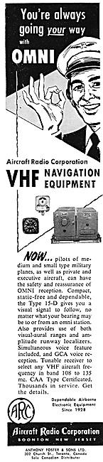 ARC Aircraft Radio Corporation - ARC VHF Navigation Equipment