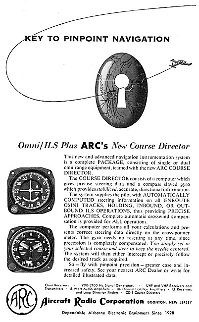 ARC Aircraft Radio Corporation - ARC Course Director 1956
