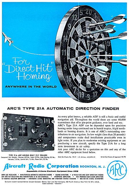 ARC Aircraft Radio Corporation ARC Type 21A ADF
