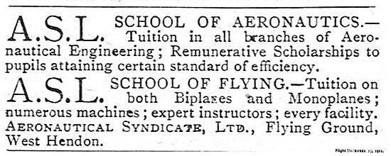 Aeronautical Syndicate Ltd: ASL School Of Aeronautics