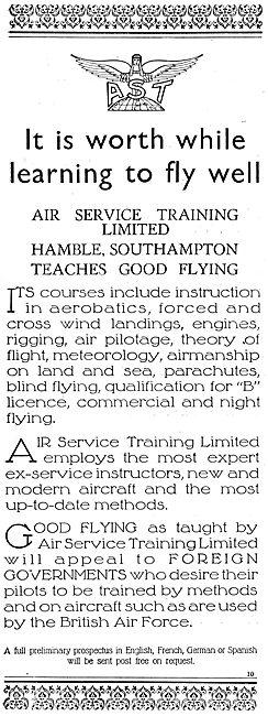AST - Air Service Training Hamble Teaches Good Flying