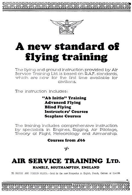Air Service Training  AST Hamble  Flying School 1931