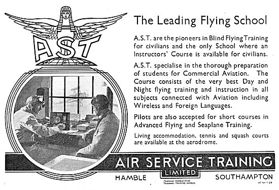 Air Service Training. AST. Also Offer Seaplane Training