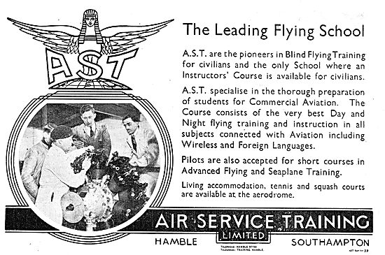 Air Service Training. AST. Training For Commercial Aviation