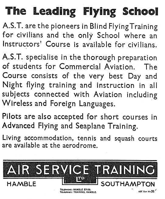 Air Service Training. AST. Courses Include Wireless & Languages
