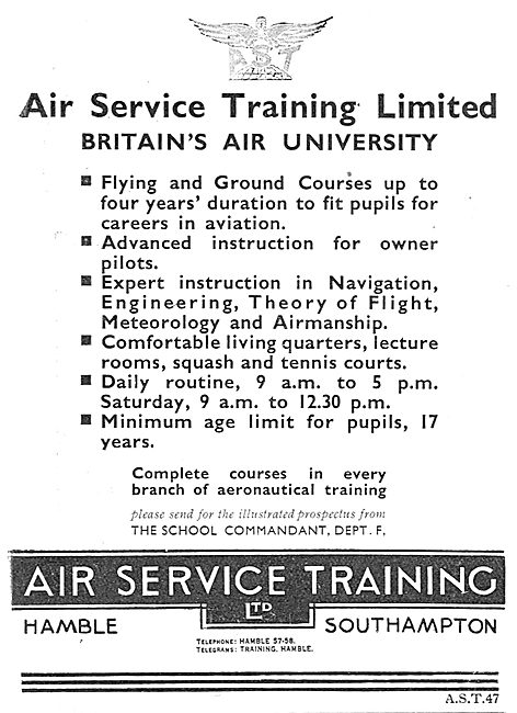 Air Service Training. AST. Advanced Instruction For Owner Pilots