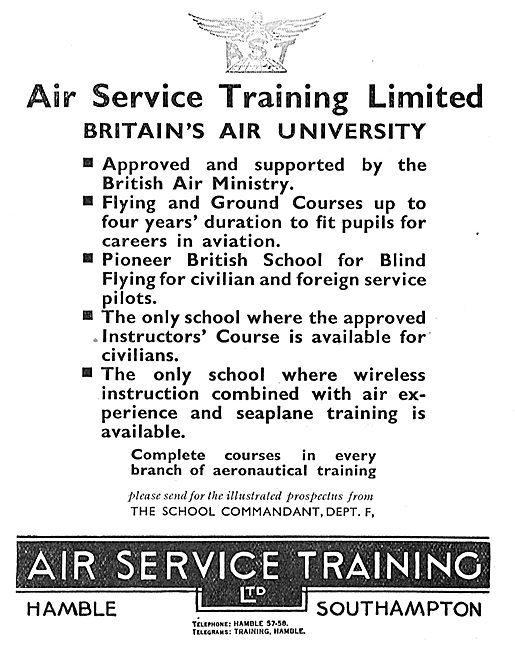 Air Service Training. AST. Approved Instructors Courses