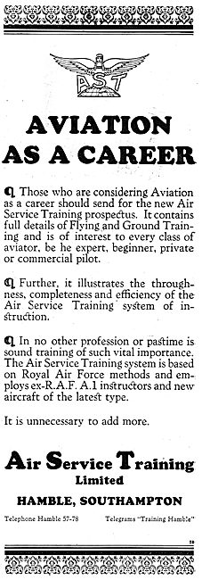 Air Service Training For Those Considering  Aviation As A Career