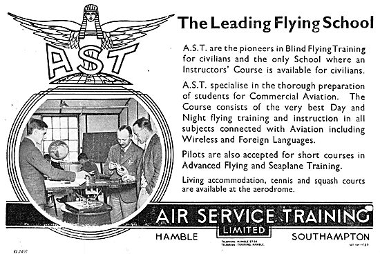 AST Air Service Training Flying & Aircraft Engineering Courses