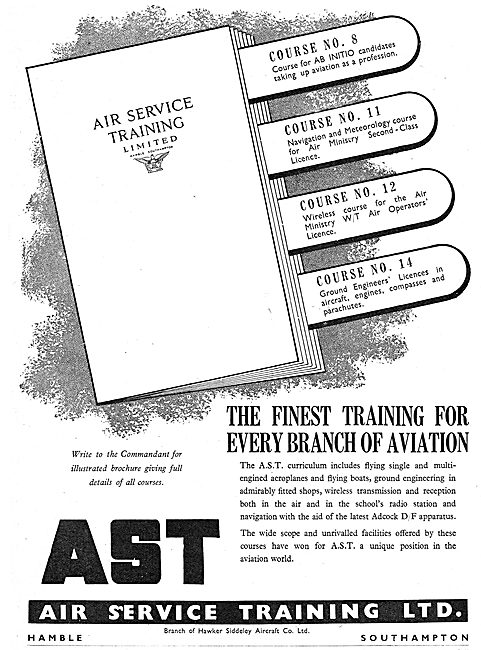 Air Service Training. AST Flying Training. Aircrew Training
