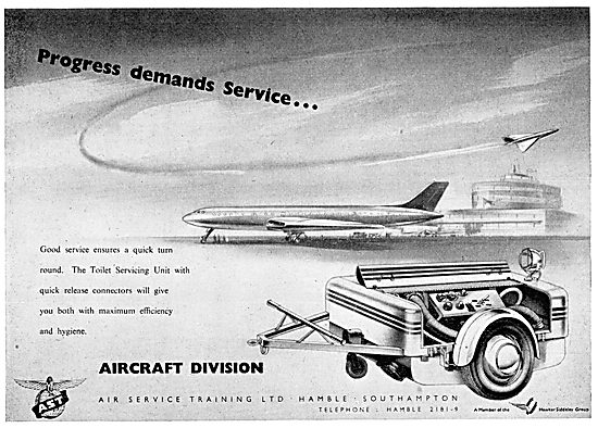Air Service Training : AST: Toilet Servicing Trolley