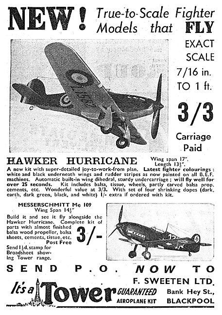 A.Sweeten: Tower Flying Model Aircraft.  Hawker Hurricane