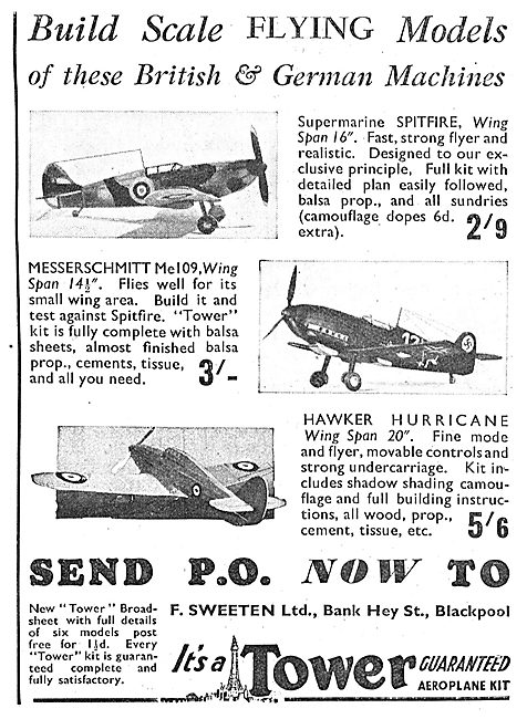 A.Sweeten: Tower Scale Flying Model Aircraft.
