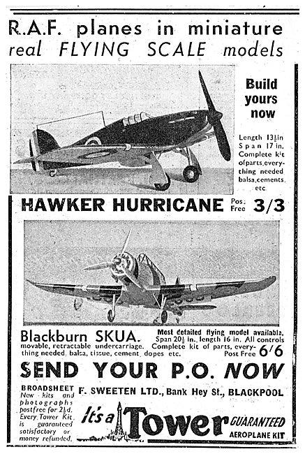 A.Sweeten: Tower Flying Model Aircraft. Blackburn Skua
