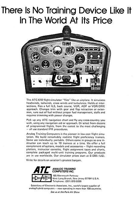 ATC Analog Training Computers - ATC-610 Flight Simulator