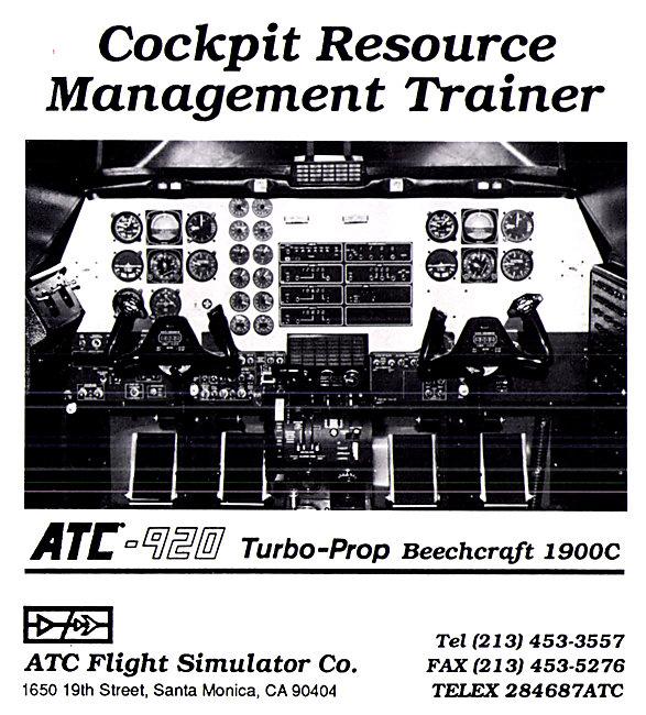 ATC Flight Simulator  CRM Trainer 1990 - ATC-920 Beech 1900C