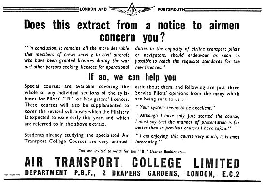 London & Portsmouth Air Transport College