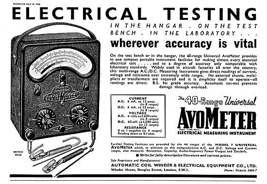 The 40 Range Universal AvoMeter
