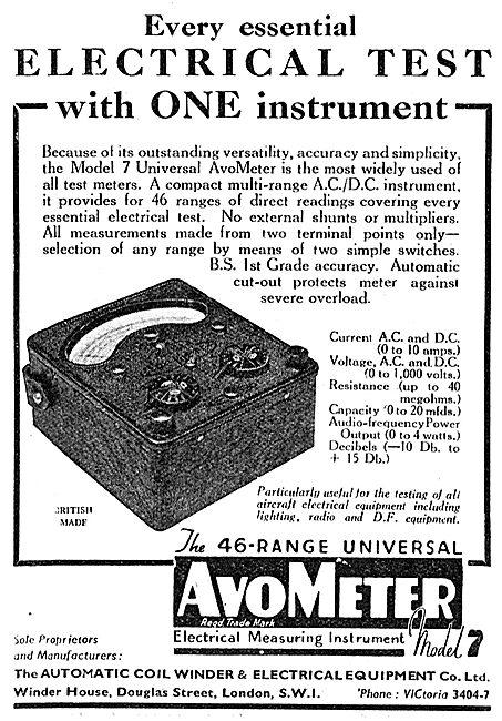 AVO AvoMeter - 46 Range Universal Electrical Measuring Tool