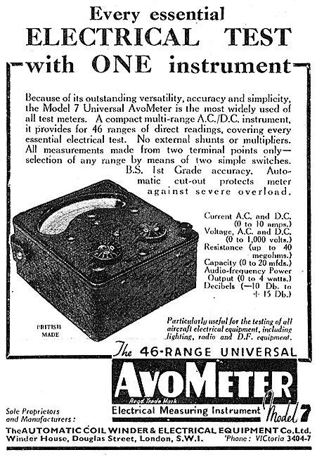 AVO AvoMeter Model 7 46 Range Electrical Test Equipment