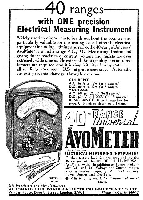 AVO AvoMeter Model 7 40 Range Electrical Measuirng Instrument