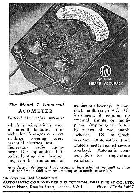AVO AvoMeter Model 7