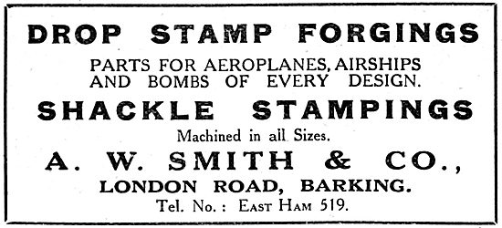 A.W.Smith & Co. Barking - Drop Stamp Forgings - 1917