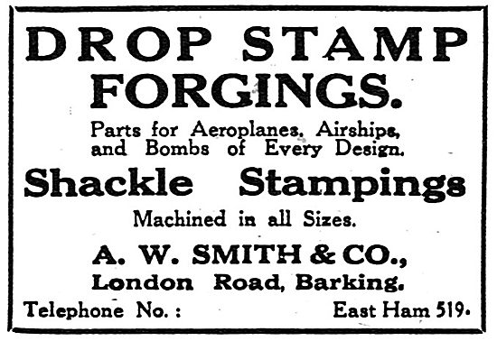 A.W.Smith & Co. London Road, Barking. - Drop Stamp Forgings