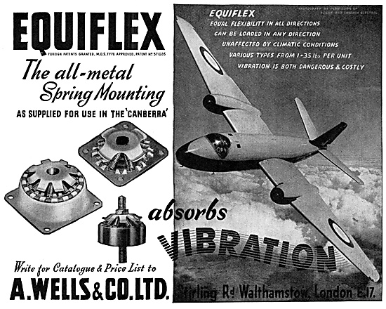 A.Wells & Co: Equiflex Spring Mountings - Anti-Vibration