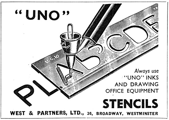 A .West & Partners - Uno Drawing Stencils 1947