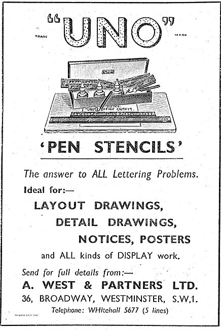 West Uno Pen Stencils For Drawing Offices
