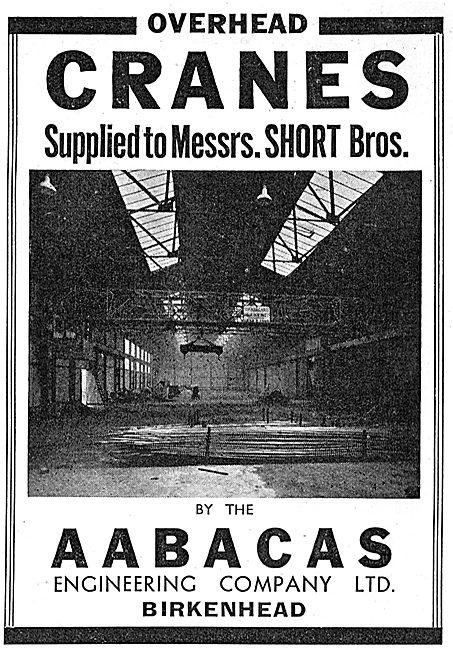 Aabacas Engineering. Birkenhead Factory Cranes 1939