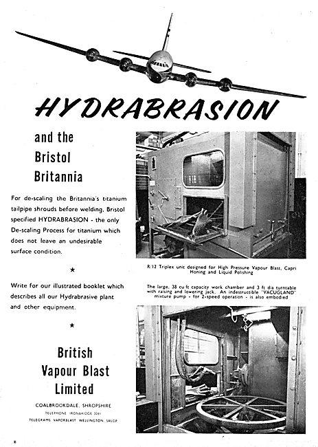 British Vapour Blast. Hydroabrasive Plant Equipment